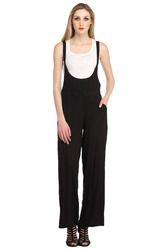 Cottinfab Women's Black & White Jumpsuit
