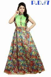 Exclusive Bhagalpuri Designer Party Wear Gown