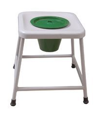 Commode Stool Powder Coated ( with Pan and Lid)