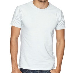 White Plain Round Neck T Shirts
