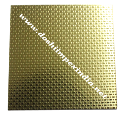 Embossed Linen Gold Stainless Steel Sheet