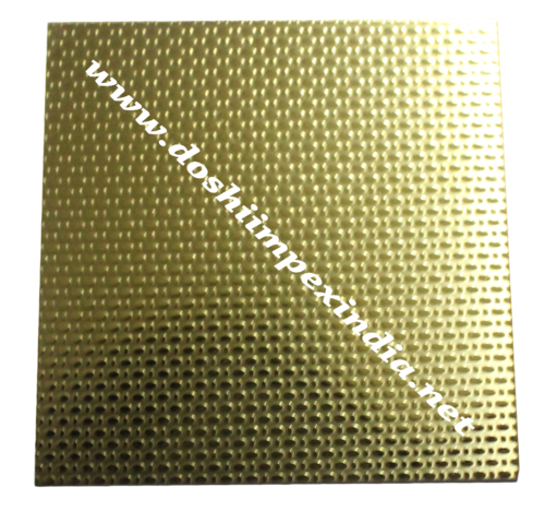 Embossed Linen Gold Stainless Steel Sheet