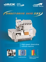 Jack Direct Drive Over Lock Stitch Machine