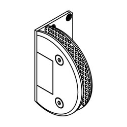 Glass to Wall Hinges 90 Single Side Plate