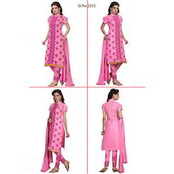 Pink Embroidered Suit