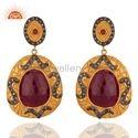 Pave Diamond Birthstone Earrings