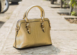 Metallic Crock Handheld Ladies Shoulder Bag