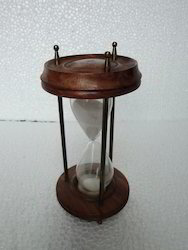 sand timer with wooden finish