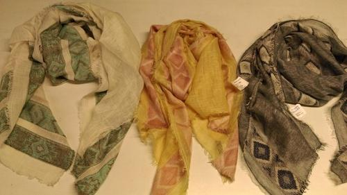 Cotton Linen Jacquard Scarves