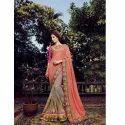 Light Pink Plain Baluchari Saree