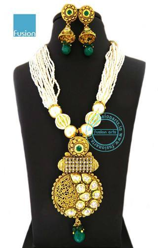 Pendant sets ethnic pendant set exporter from mumbai aloadofball Images