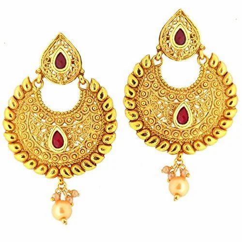Designer Gold Earring