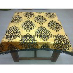 Designer Table Cover Brasso Velvet Full Lacework