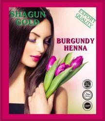 Natural Shagun Gold Burgundy Hair Dye Powder