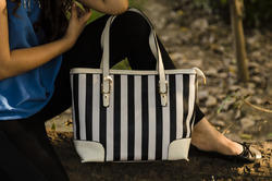 Stripe Tote Bags