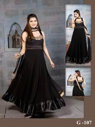 Designer Black Anarkali Suit