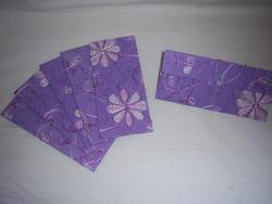 Silk Handmade Paper Envelopes With Floral Embroidery