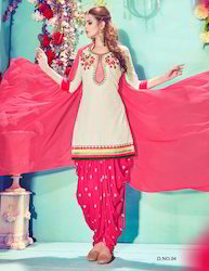 Trendy Cotton Patiala Suit