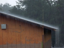 Rain Protected Shed