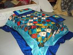 Silk Embroidery Patchwork Bed Spread