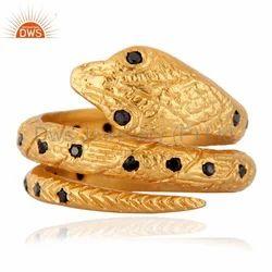 Brass Snake Adjustable Ring