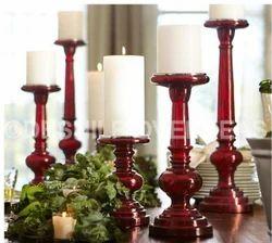Glass Mercury Pillar Candle Holder