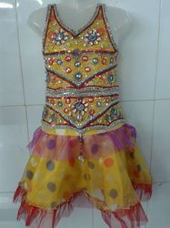 Kids Beaded Skirt Blouse