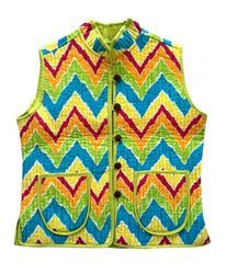 Multicolour Reversible Quilted Jacket