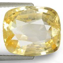 7.68 Carats Yellow Sapphire