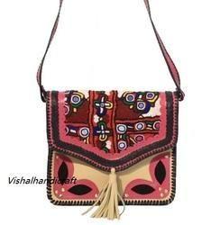 Indian Banjara Boho Leather Tote Bag