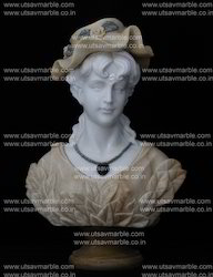 Marble Lady Bust (2')