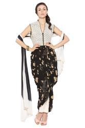 Indo Western Style Designer Party Wear Long Suit Kurti
