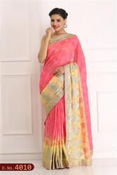 Printed Hand Embroidered Saree