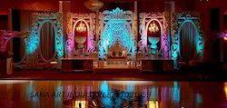 Wedding+Fiber+Backrops+Stage