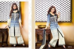 Lovable Blue Grey Palazzo Suit