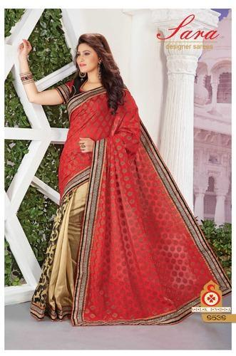 Party Wear Embroidery Saree