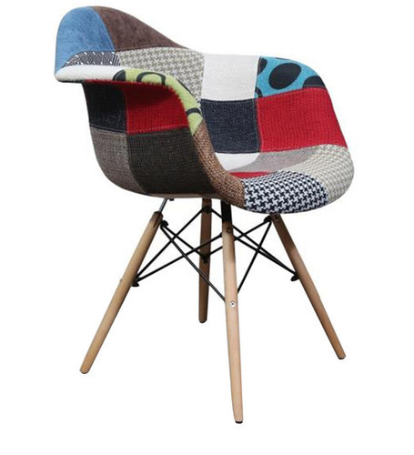 Multicoloured Accent Chair With Arms