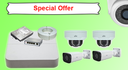 UNV 3 MP IP Cameras Kit