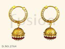 Traditional Pearl Bali Earrings