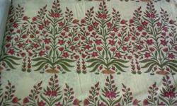 Tree Of Life Block Printed Fabric