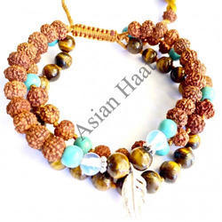 rudraksha and gems stone