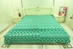 New Cotton Kantha Ikat Bed Cover Bedspread 'Queen'