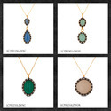 CZ Gemstone Pendants