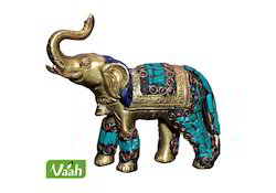 vaah brass elephants with stone work