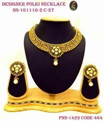 Designer Gold Plated Designer Necklace Set