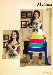 Designer Cotton Anarkali Suit
