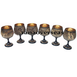 Brass Wine Goblet Set