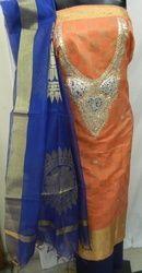 Banarasi Suit With Gota Patti Work