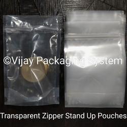 Transparent Zipper Stand Up Pouch