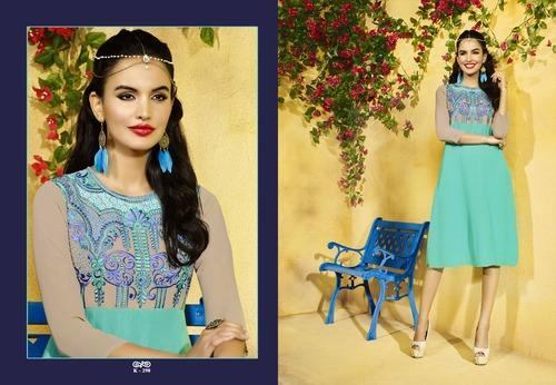 New Casual Embroidered Kurti